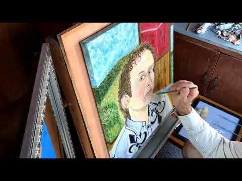 Scott OConnor - Painting Self Portrait in Oil