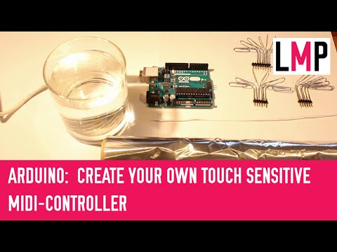 Arduino: Create your own touch sensitive MIDI-keyboard/-controller