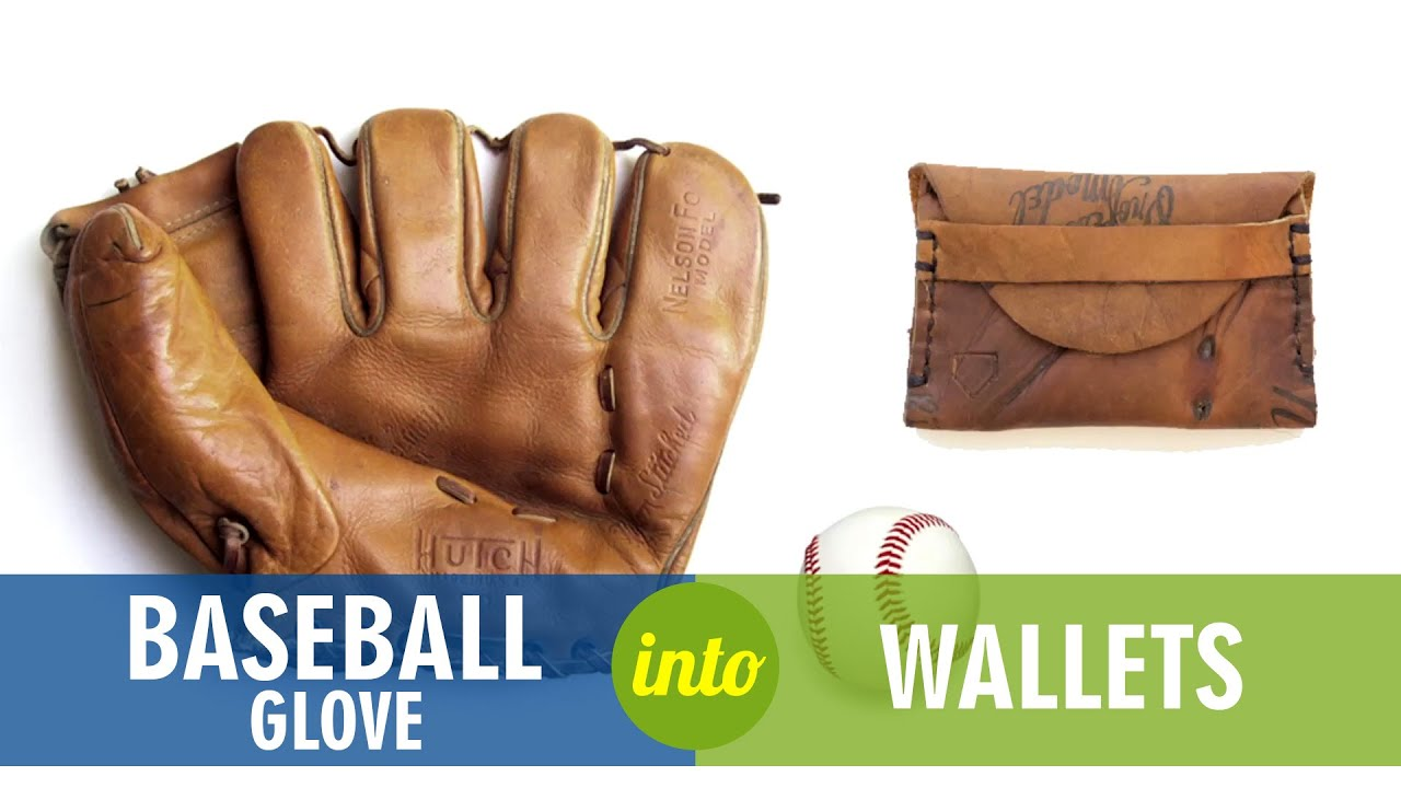 Recycled baseball glove wallet - Upcycled Baseball Gloves Into Wallets