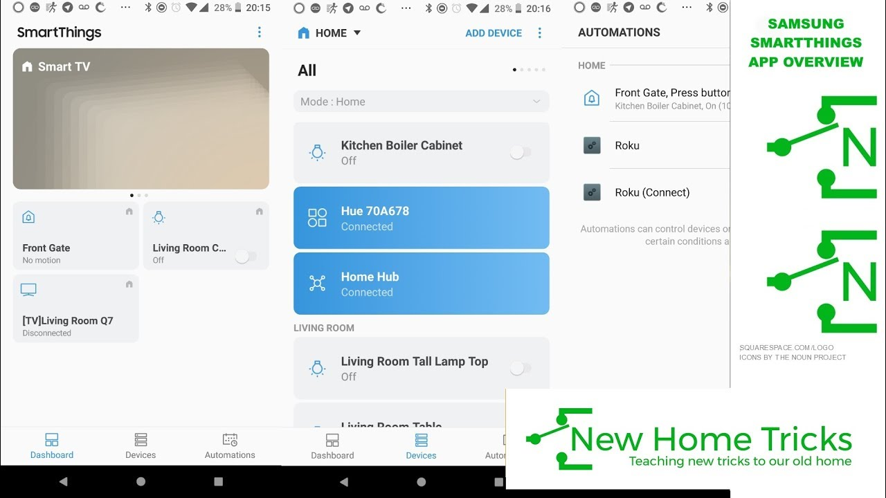 Samsung Smartthings App Overview — New Home Tricks