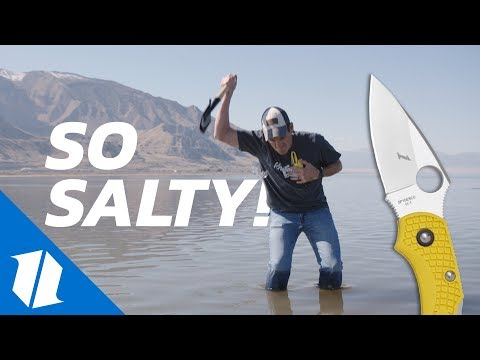 Will it Rust? Knives vs  Great Salt Lake | We Found a Drone!