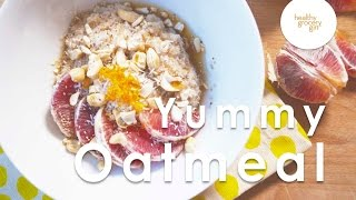 Coconut Cashew Maple Orange Oatmeal | Easy Healthy Breakfast Recipe | Healthy Grocery Girl®