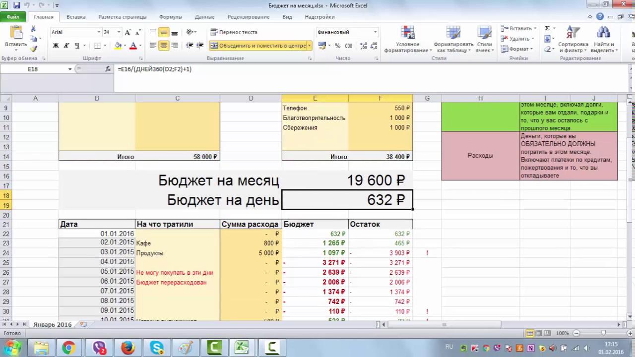 Семейный бюджет: планирование и экономия