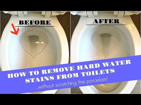 How To Remove Hard Water Stains From Toilets (WITHOUT Scratching The Porcelain!!!)
