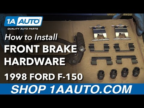 How to Replace Front Brake Caliper Hardware 97-03 Ford F-150