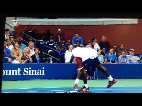 Donald Young - Meltdown  US OPEN 2016
