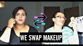 Me and My Best Friend Swap Makeup