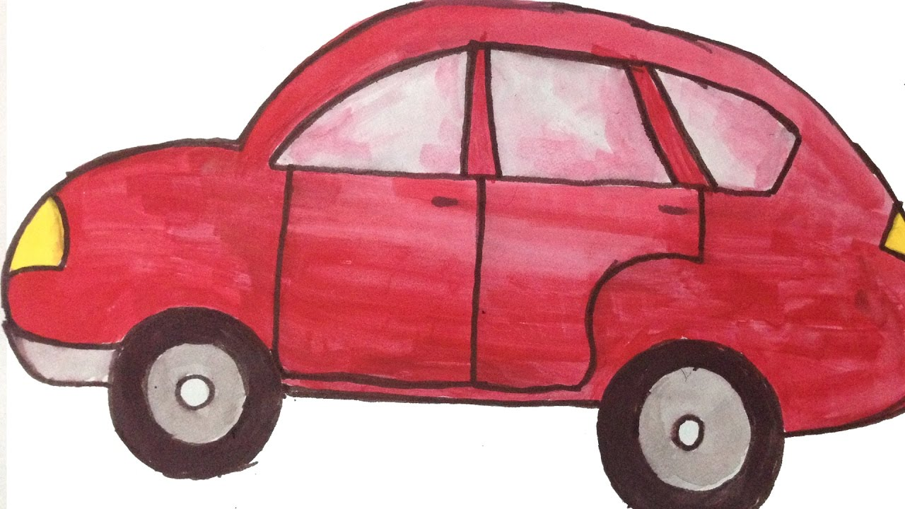 how to draw a car easy kids