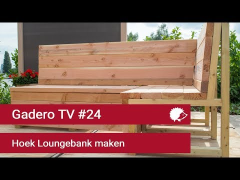 Boeren Bankje Van Steigerhout.24 Hoek Loungebank Maken Van Lariks Of Steigerhout Youtube