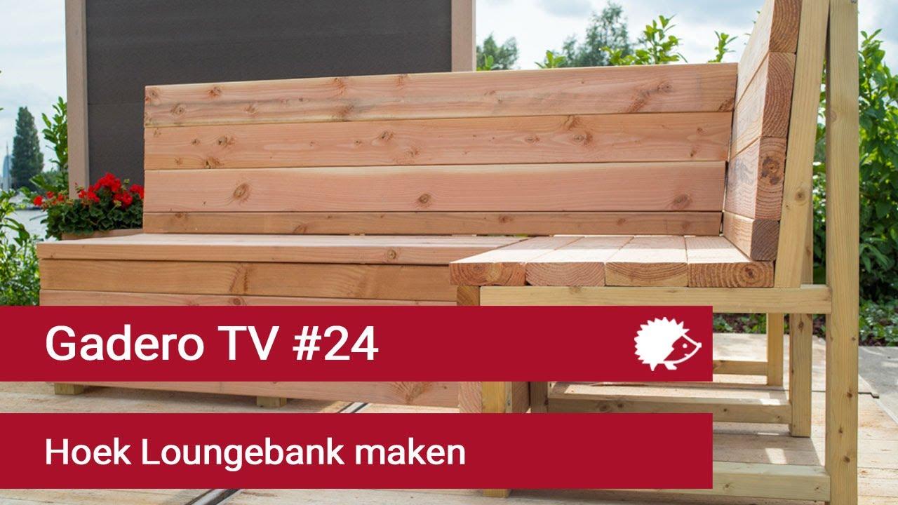 24 hoek loungebank maken van lariks of steigerhout youtube