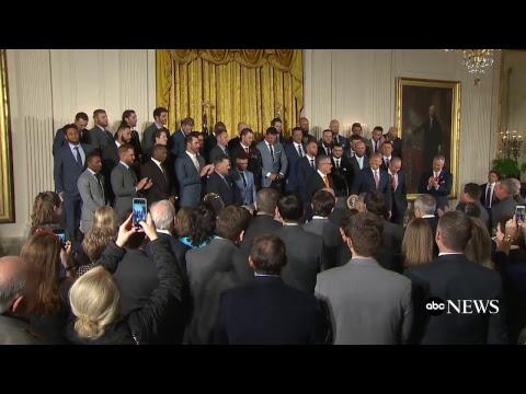 President Donald Trump welcomes World Series champion Houston Astros to White House | ABC News
