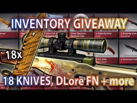 Giving away entire inventory (DLore, Howl, 18 knives) + 500 case opening @  www.twitch.tv/anomalyxd