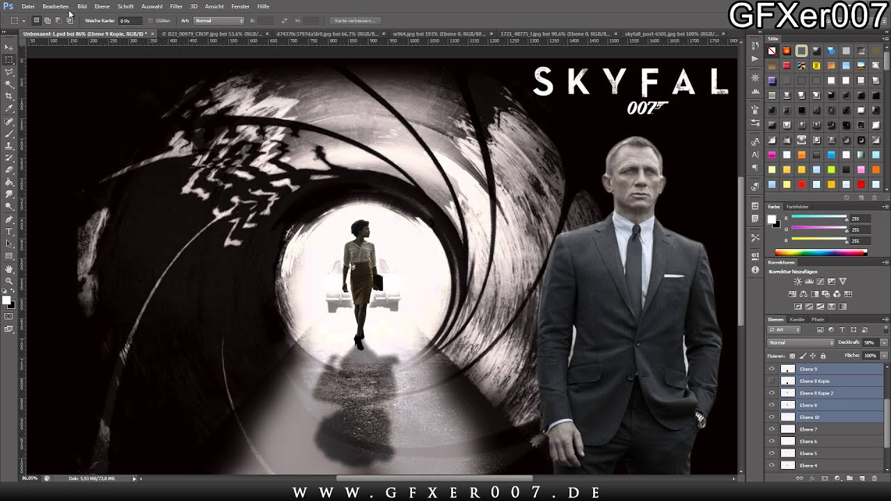 james bond skyfall - wallpaper - speedart - youtube