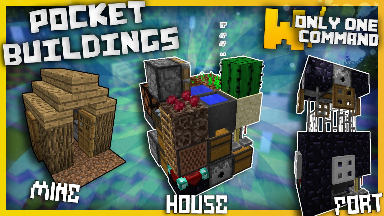 Minecraft - Pocket Buildings With Only One Command Block