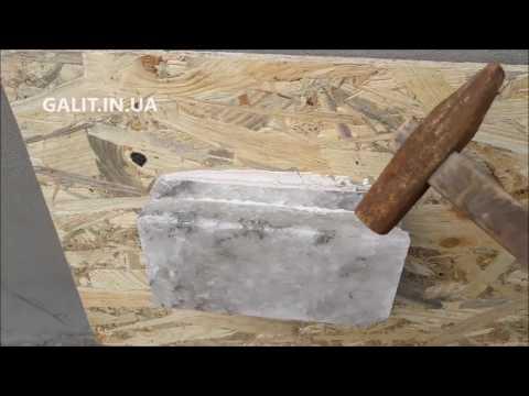Клей для соляной плитки — тестирование