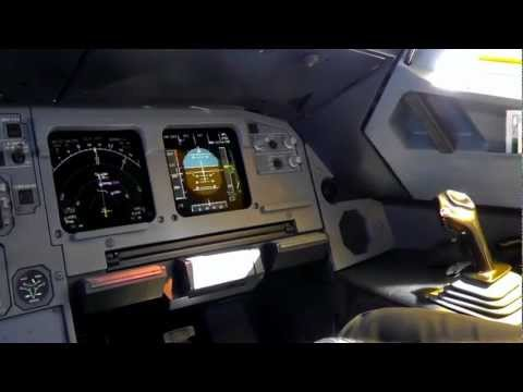 Cyprus Airways A320-232|Cockpit Scenes and Descent|Full HD!