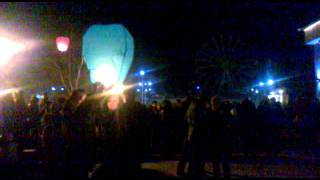 видео Небесные фонарики в Барнауле