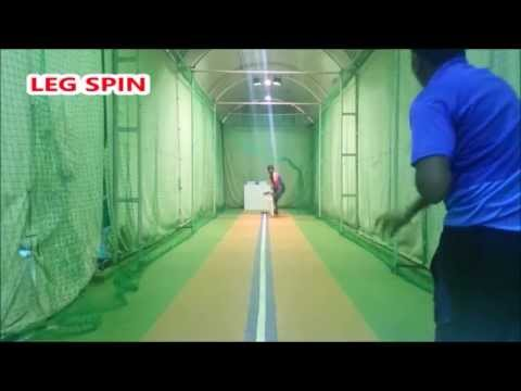 Leg spin deliveries with Spingball