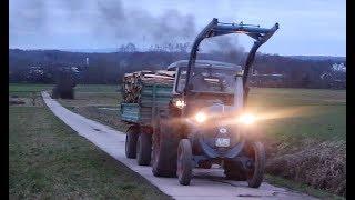 Lanz Bulldog Holz fahren -- Funkenflug [D4016]