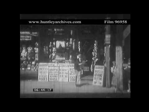 Newspaper Stand, 1930's.  Archive film 96958