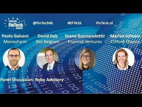 Robo Advisory panel discussion at European FinTech Awards & Conference 2016 Amsterdam