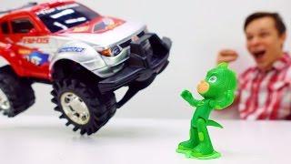 Гонки на Машинах: Герои в Масках #ГЕККО vs Машинки: Кто быстрее? Видео для Детей