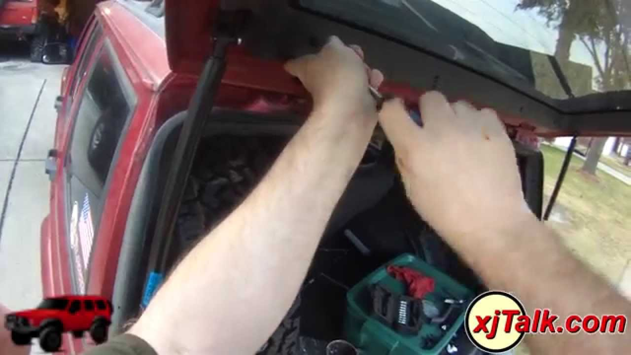 maxresdefault xjtalk com 97 jeep cherokee rear hatch latch repair youtube  at honlapkeszites.co