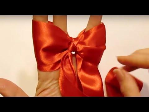 Как сделать бантик из ленты бумажной своими руками пошаговое фото
