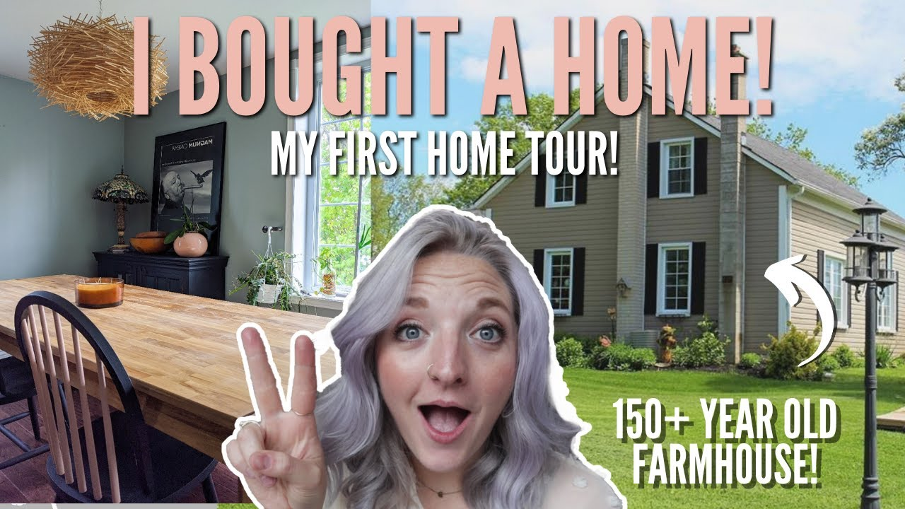 "I bought my first home! 2020 ""before""  house tour  🏡  