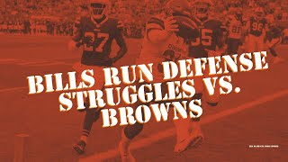 Bills vs. Browns: Bills Run Defense