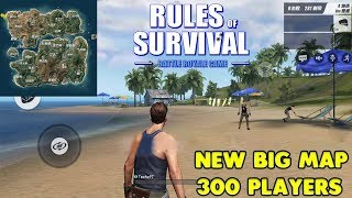 RULES OF SURVIVAL - NEW BIG MAP GAMEPLAY ( 300 PLAYERS ) - iOS / ANDROID