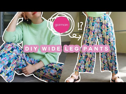 DIY WIDE LEG PANTS (Gorman Inspired!) + FREE PDF PATTERN! | halfsoybean - YouTube