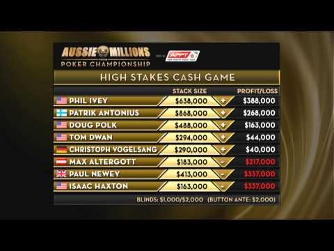Aussie Millions 2014 - High Stakes Cash Game, Episode 5 | PokerStars