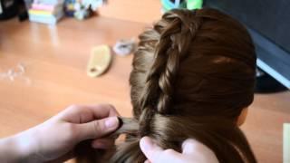 видео урок плетения косы из 5 прядей