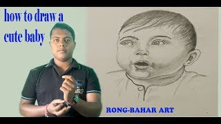 how to draw a cute baby  step by step | Rong-Bahar Art |