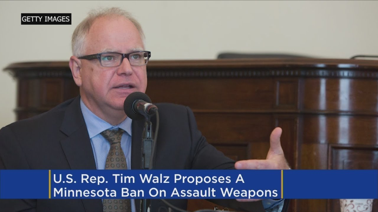 Walz Breaks With NRA, Proposes Assault Weapons Ban