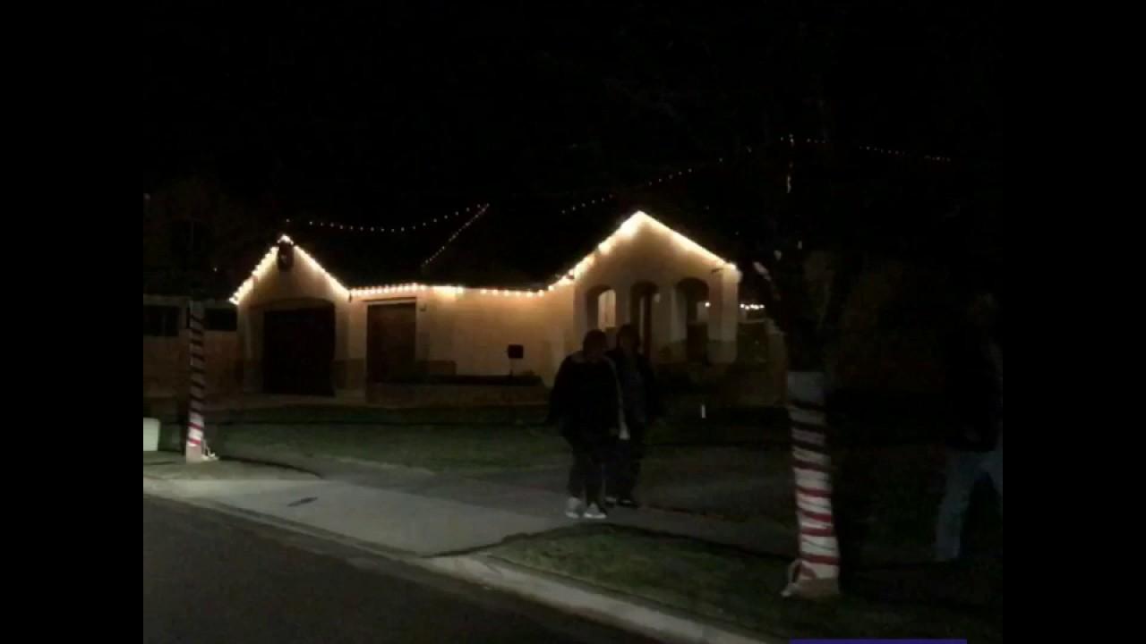 Yucaipa Christmas Manning St. Light Show - YouTube