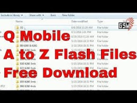 Q Mobile A to Z Flash File Free Download | qmobile a to z flash file |  qmobile 245 model flash file
