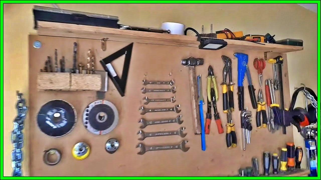 Como hacer tablero para herramientas haciendo mi taller - Tablero de herramientas ...