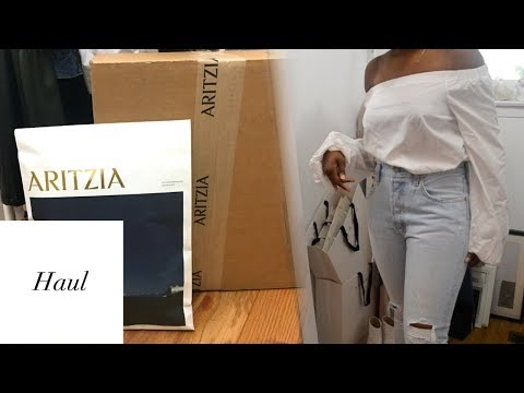 2428fd95960 HUGE ARITZIA HAUL    ALL BLACK EVERYTHING by Panda   Co