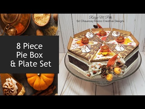 8 Piece Pie Box and Plate Set | Easy Holiday DIY Gifts | Cricut Crafts
