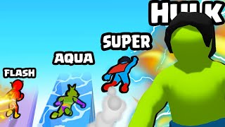 EVOLVING in a MAX LEVEL SUPERHERO in Superhero Race!