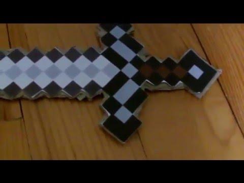 Minecraft r alisation 1 l 39 p e en carton youtube - Fabriquer une cheminee en carton ...