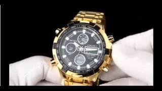 0be35d2be79 Relógio Amuda Dourado Prata