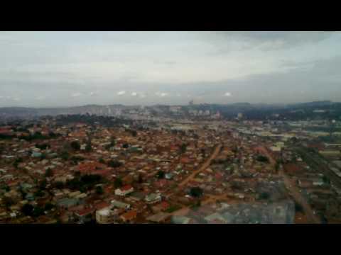 Helicopter flight over Kampala