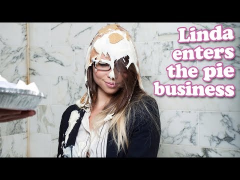 Linda gets pied in the face