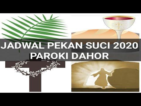 Jadwal Misa Pekan Suci 2020 Paroki Dahor