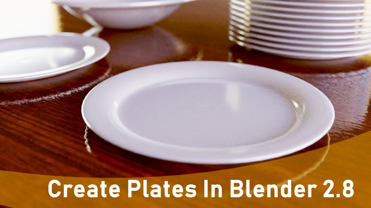 How To Model Plates and Bowls: Beginner Blender 2.8 Modeling Tutorial