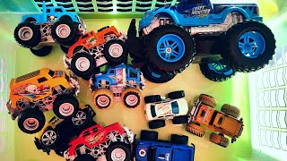 Monster Trucks for Children Review and Play toys Video for Kids
