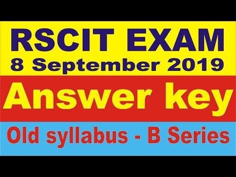Rscit exam 8 September 2019  answer key   rscit answer key   rscit old syllabus answer key   rscit
